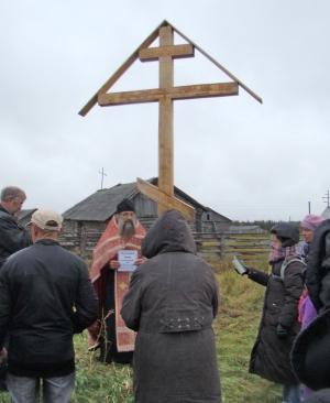 Установка креста А.А. Крупцовой